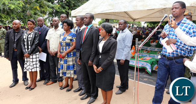 President Edgar Lungu Thanks Teachers Based in Nabwalya