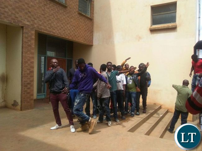 Youths that were picked up at the gym by police