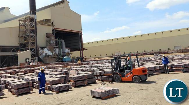 Copper Cathodes for exports from Kansanshi mine
