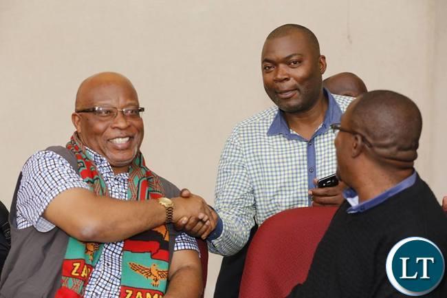 Nevers Mumba with Bowman Lusambo at the Stadium