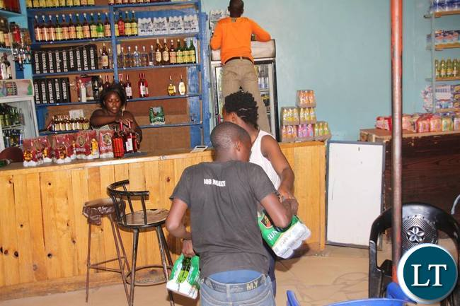Alexis Sempundu was lucky to empty his shop for safety   under ZP cover in Zingalume