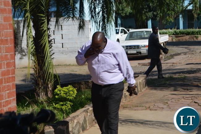 Ziwa Ziwa arriving at Livingstone Magisttarte Court in Livingstone