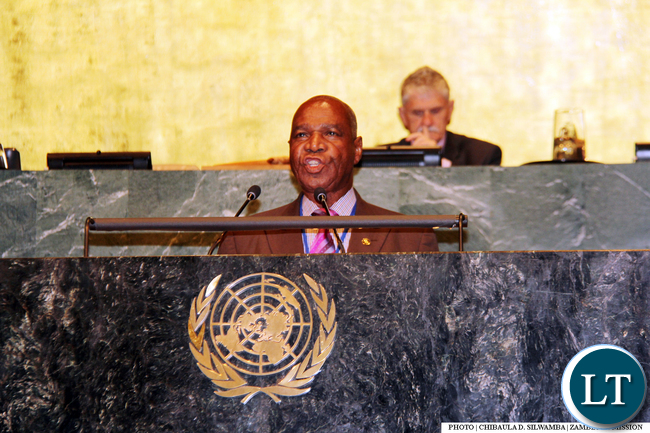 Hon. Gerry Chanda address UNGASS2016
