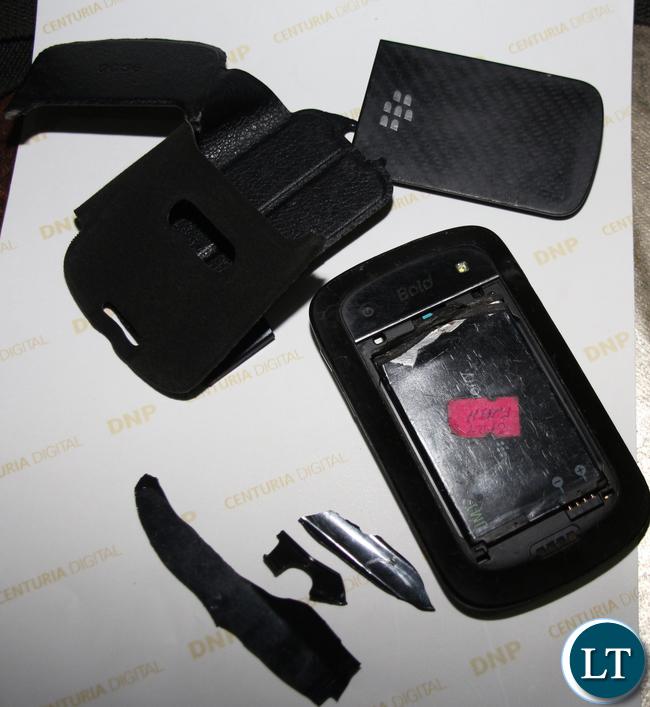 Photo Journalists Jean Mandela's Damaged Phone