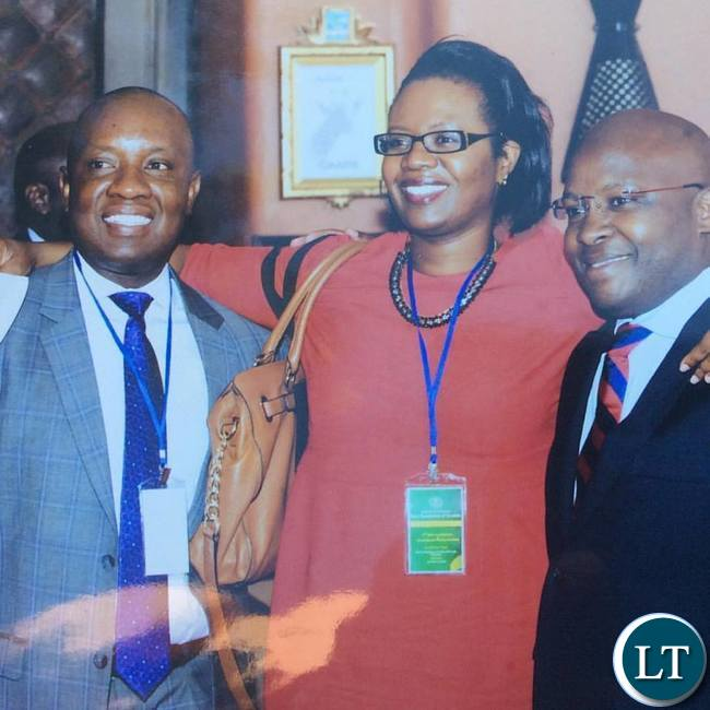 Linda Kasonde and two other contenders for the LAZ Presidency Kafula Mwiche and Sydney Chisenga
