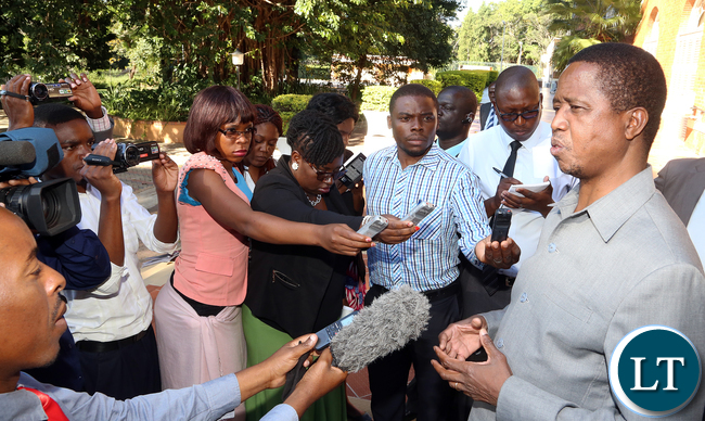 President Lungu Media Briefing on Riots in Lusaka 5343