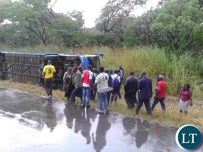 The Mazhandu bus that over turned