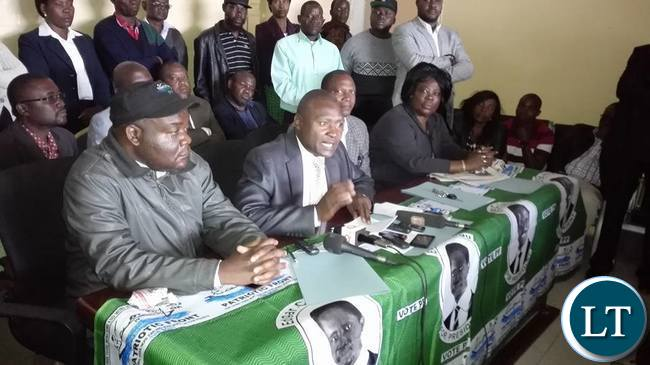 Frank Bwalya addressing the news briefing_1