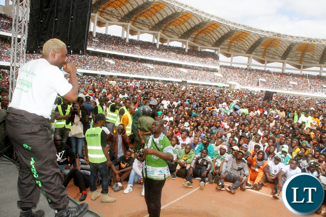 General Kanene during the PF National Campaign and Manifesto Launch 2016 at Heroes Stadium in Lusaka on Saturday, May 21,2016 -Picture by THOMAS NSAMA