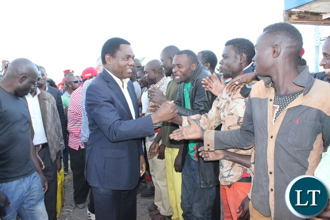 HH being welcomed on the Copperbelt at Kalulushi Airport