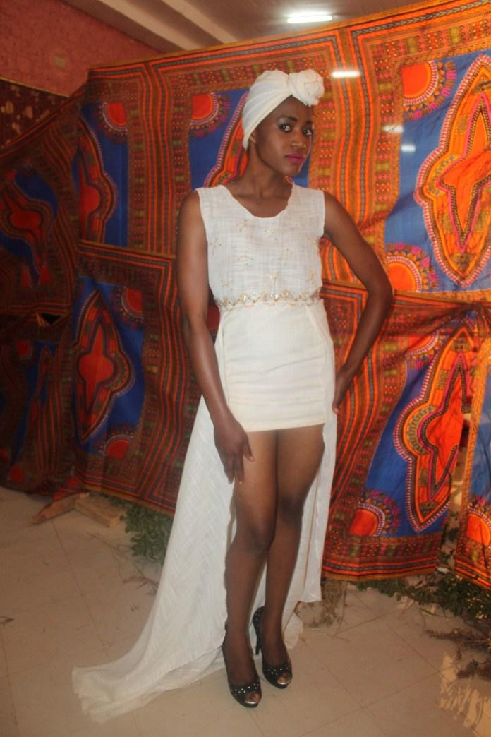 Model Siphiwe Lumbiwe Nawakala at the Afrikawala Fashion Show