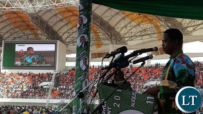 President Lungu at Heroes Stadium