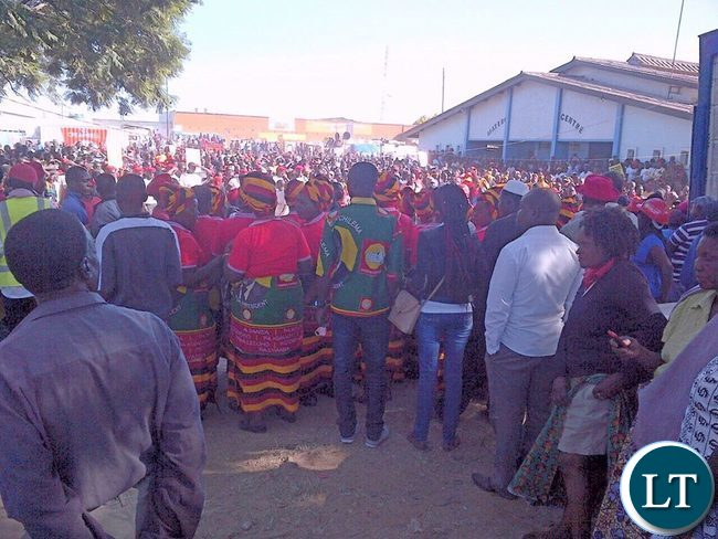 UPND cadres at the Matero rally