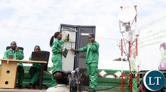 ZAMTEL Workers at Labour Day