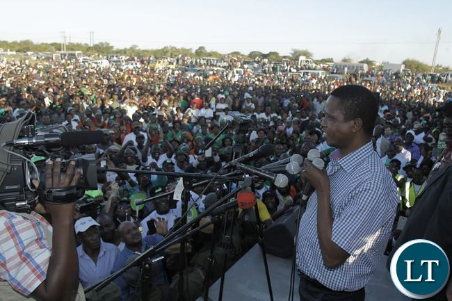 File:President Edgar Chagwa Lungu (right) addresses a public rally at kalundu ground in Chilanga Constituency on Sunday,May 15,2016..PICTURE BY SALIM HENRY/STATE HOUSE ©2016