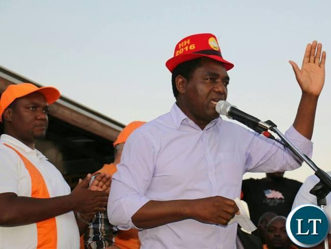 UPND President Hakainde Hichilema