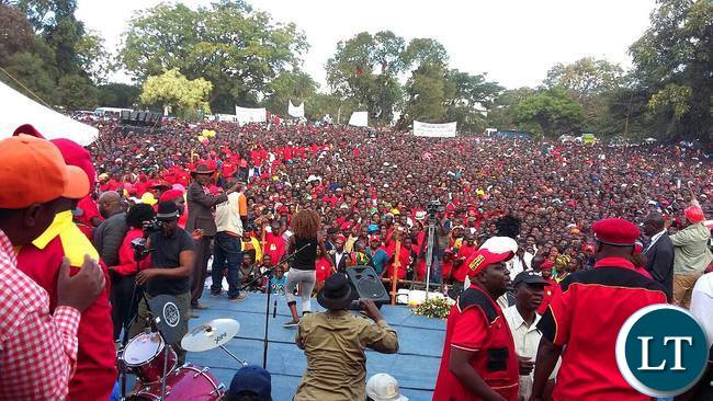 UPND Rally at Freedom Park in Kitwe