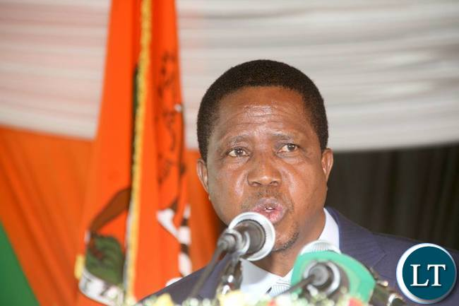 President Lungu at the State House Press Conference