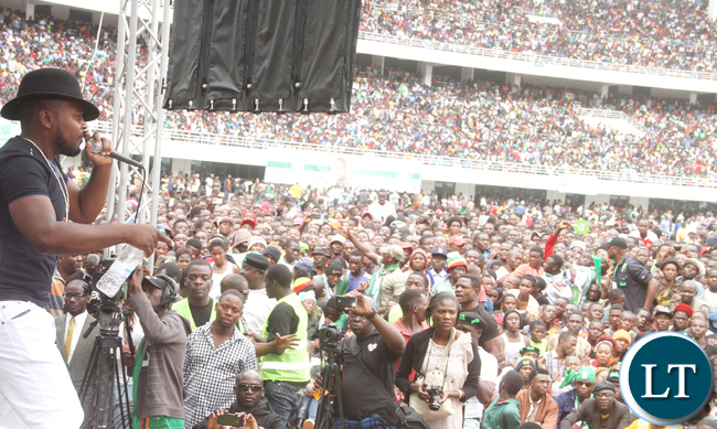 Wille during the PF National Campaign and Manifesto Launch 2016 at Heroes Stadium in Lusaka on Saturday, May 21,2016 -Picture by THOMAS NSAMA