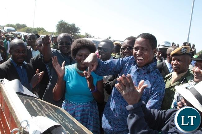 President Edgar Lungu Officially launch the Mufuchani Bridge in Kitwe
