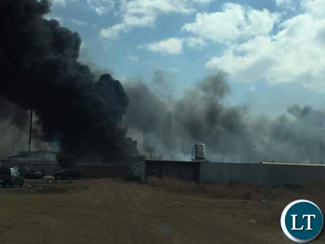 GBM Plant on fire