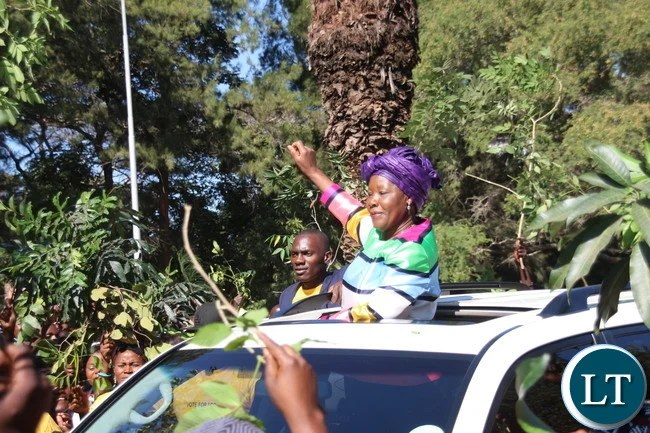 Edith Nawakwi arrival at Mulungushi Conference Centre