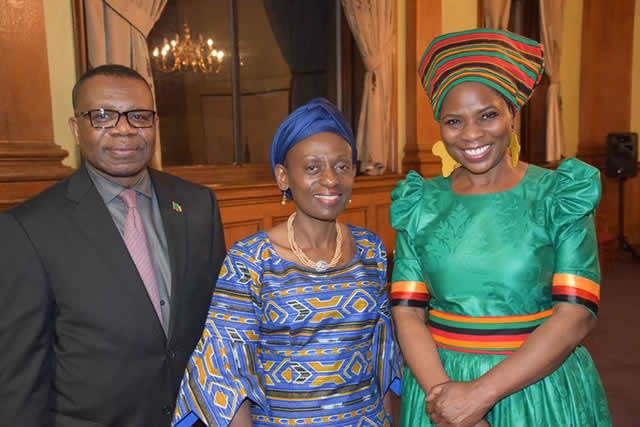 Justina Mutale with Zambian High Commissioner and Commonwealth Deputy Secretary GeneralJustina Mutale with Zambian High Commissioner and Commonwealth Deputy Secretary General
