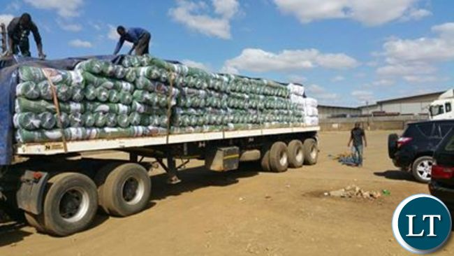 One of the trucks loaded with PF campaign materials ready for distribution
