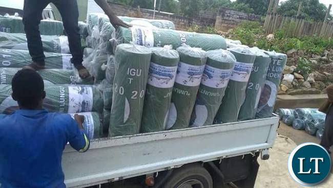 PF materials being loaded ready for distribution