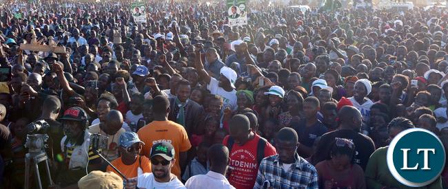 Pf rally at Luangwa Makert on Thursday
