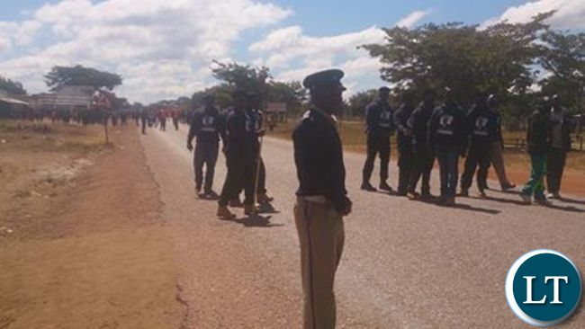 Police trying to force PF cadres off the UPND rally venue