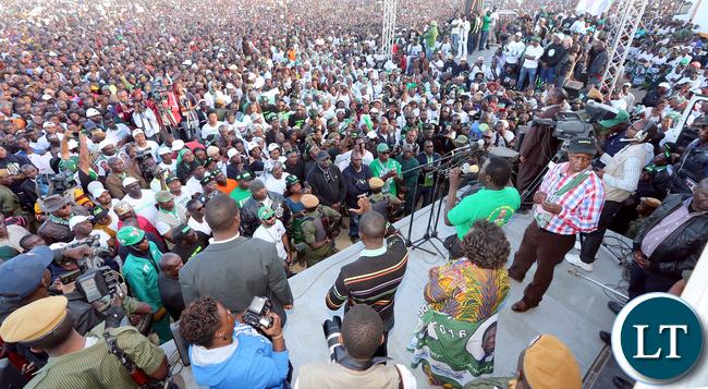 President Edgar Lungu address Rally at Mutendele Primary School in Kafue on 25-06-2016- Picture By Eddie Mwanaleza/Statehouse.