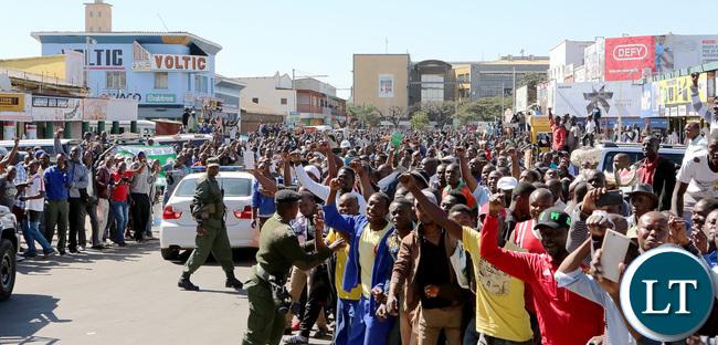 President Lungu Nominations TOWN CENTRE