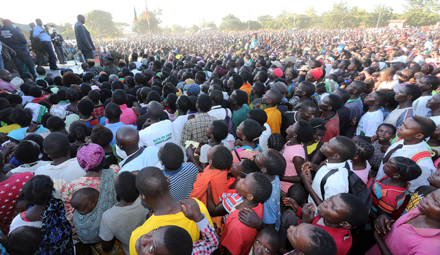 President Lungu address Rally at In Kawambwa at St Mary Parish on Thursday