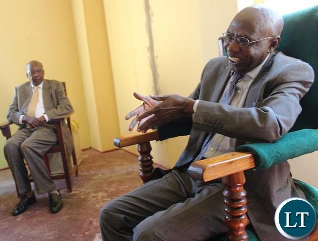 Paramount Chief Chitimukulu and  Finance Minister Alexander Chikwanda