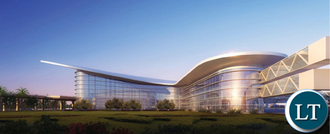 Computer images of the new KKIA terminal building under  construction