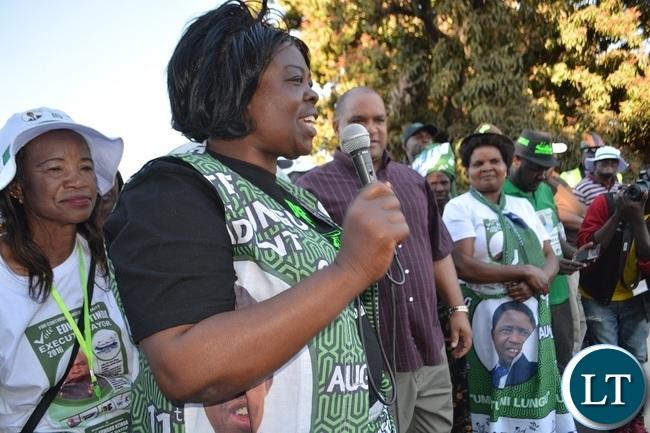 Lands and Environmental Protection Minister Jean Kapata