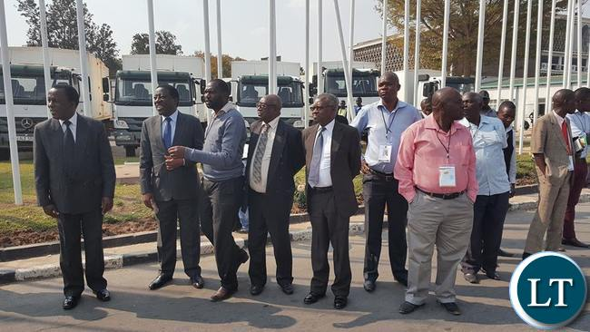 ECZ officials await the arrival of the cargo plane