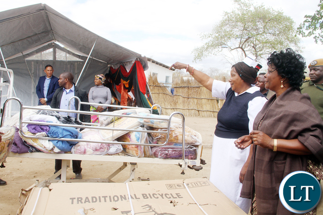 First Lady Esther Lungu hands over hospital bed to Shikabeta