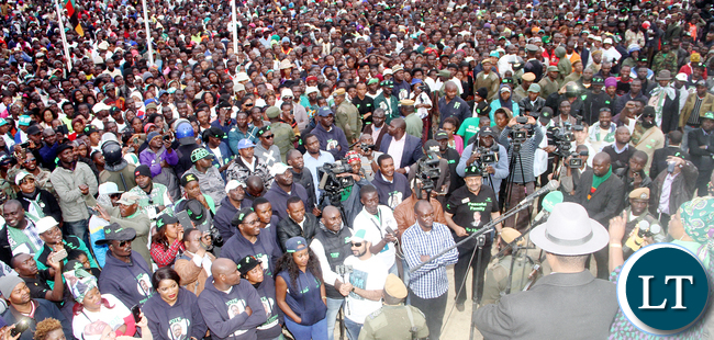 President Lungu and First Lady Esther Lungu during a rally in Chisamba and Katuba on Wednesday, July 13,2016 -Pictures by THOMAS NSAMA