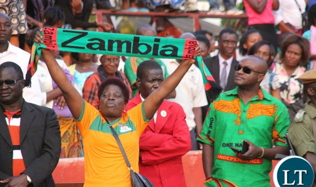 Lusaka residents converge to Lusaka Showgrounds led by President Edgar Lungu