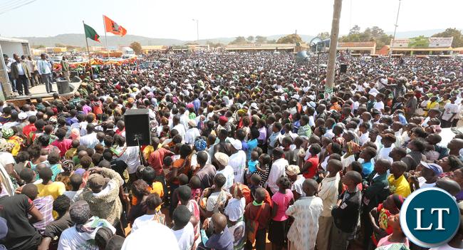 Lungu in Isoka Rally