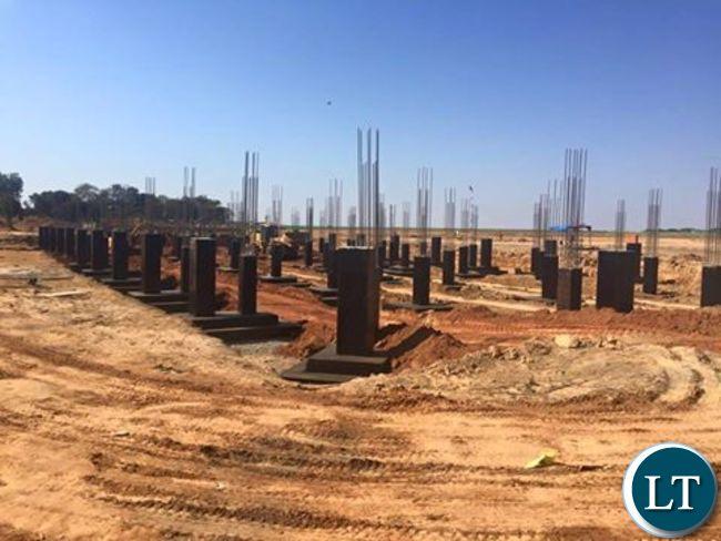 The new KKIA VVIP Presidential terminal building  foundation works underway