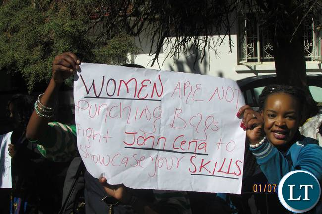 Women show their anger against GBV