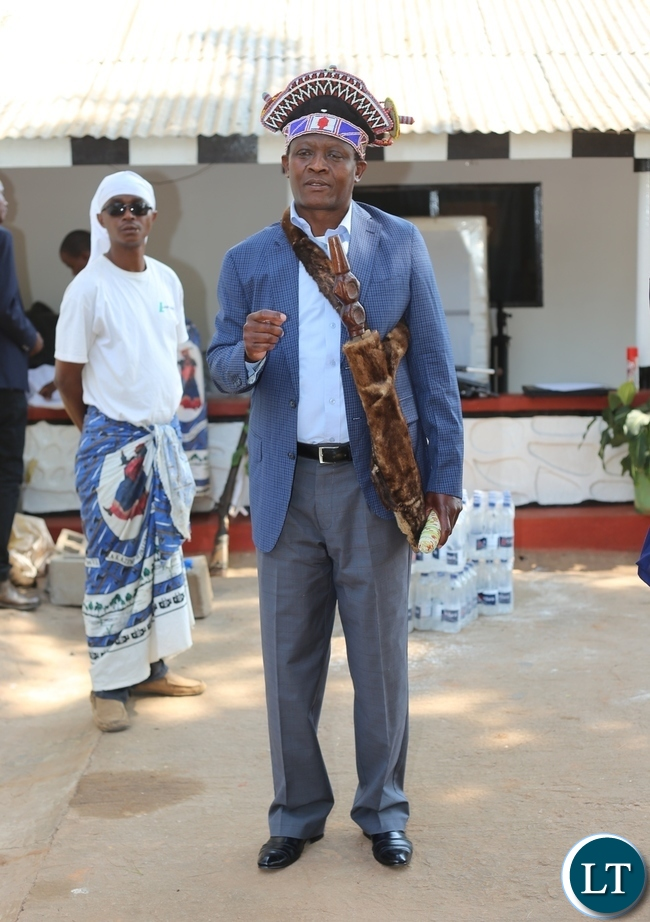 THE Mwata at his palace before leaving for the main arena