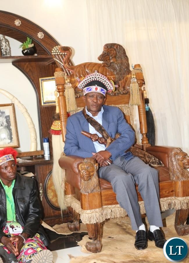 MWATA Kazembe the 19th in his royal palace in Mwansabombwe.
