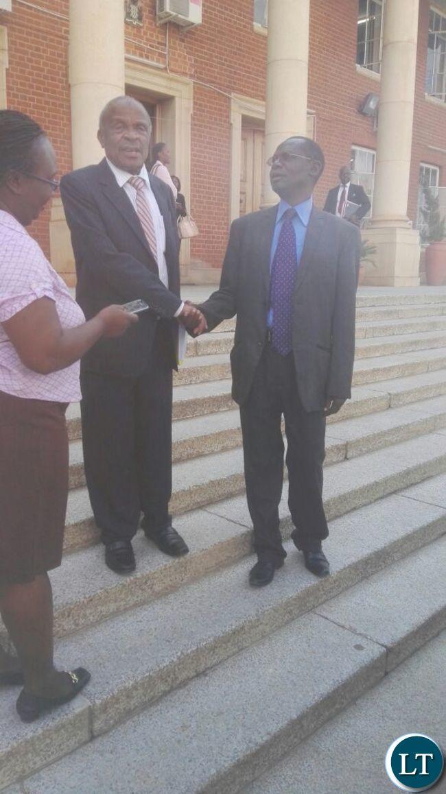 Prof Mvunga outside court