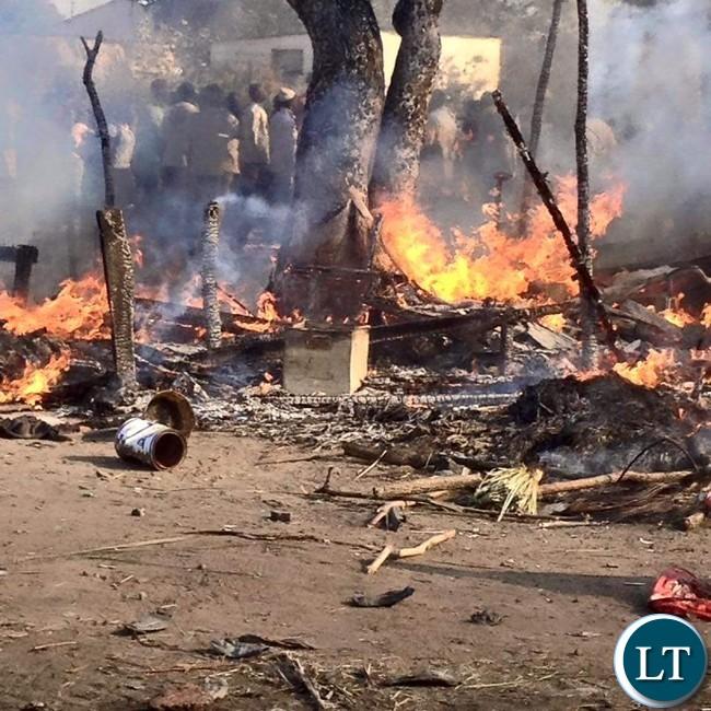Roads are blocked in Mazabuka