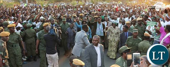 President Lungu addresses PF Supporters who visited him at State House after he was declared Winner of the August 11,2016 Elections.
