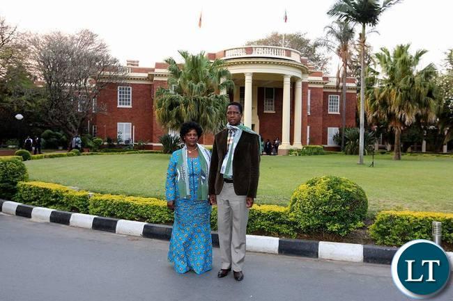 President Lungu with First Lady Esther Lungu